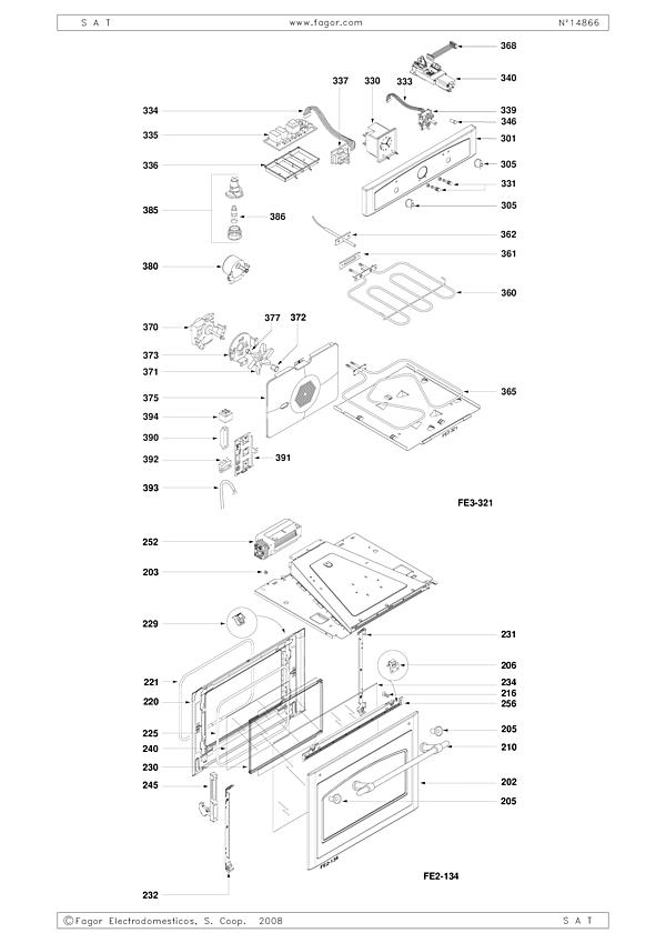 FP663EF1 / FP663EF13 - Vue éclatée 1