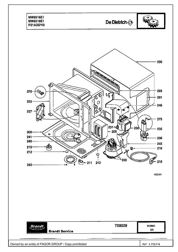 MW6516E1 / MW6516E1 - Vue éclatée 1