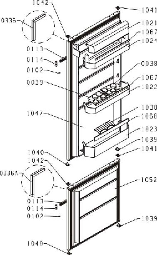 DRC1212J / DRC1212J/2 - Vue éclatée 1