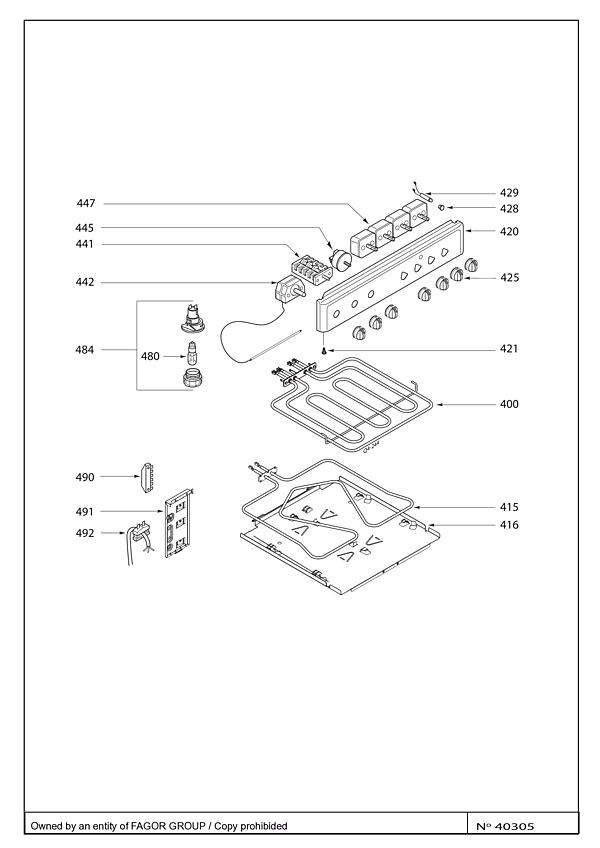 BCV6610W / BCV6610W1 - Vue éclatée 4