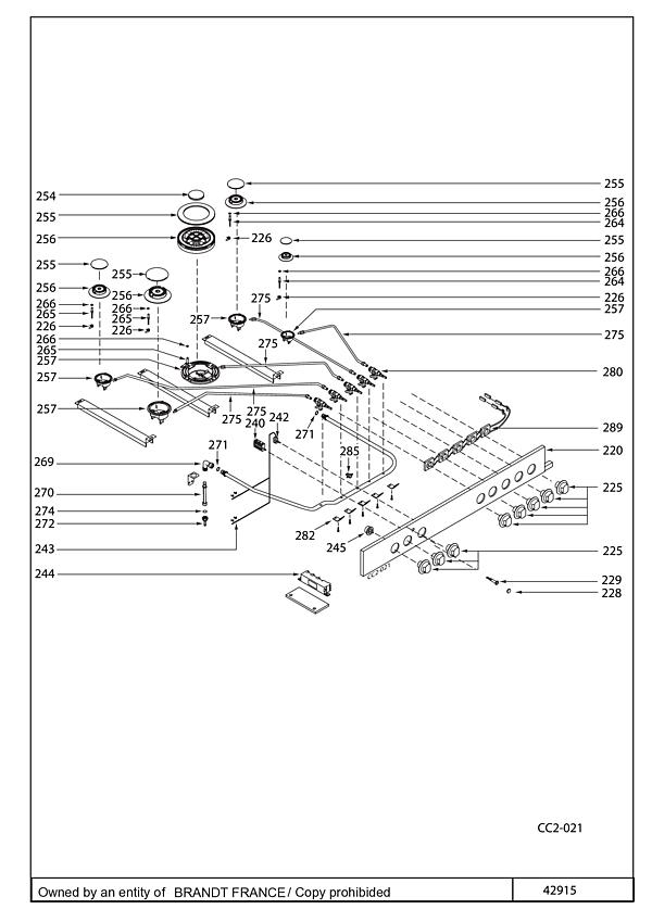 SCM690X / SCM690X3 - Vue éclatée 2