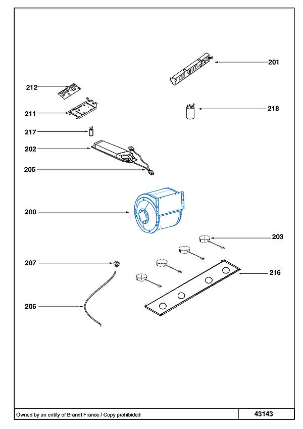 DHD1595X / DHD1595X1 - Vue éclatée 1