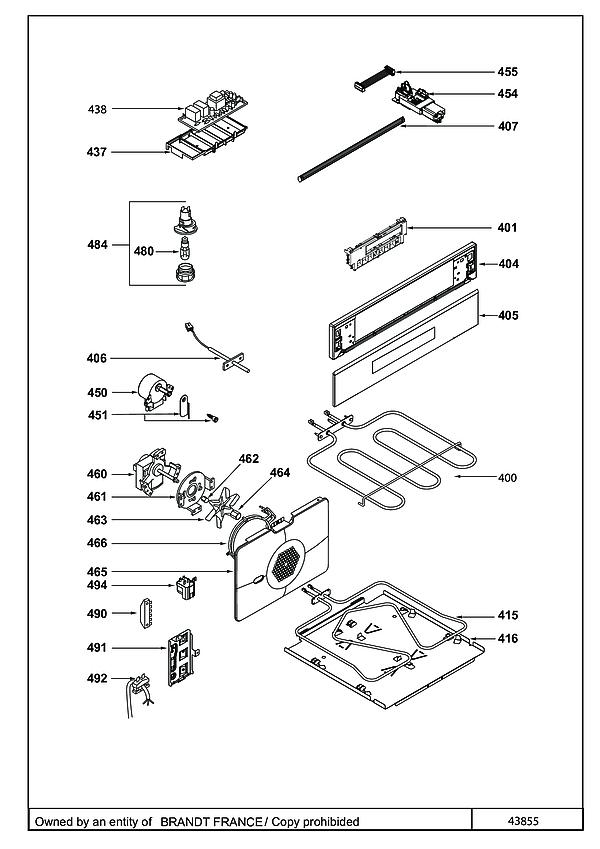 DCI1593X / DCI1593X1 - Vue éclatée 4