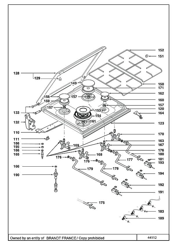 DCM1550W / DCM1550W1 - Vue éclatée 4