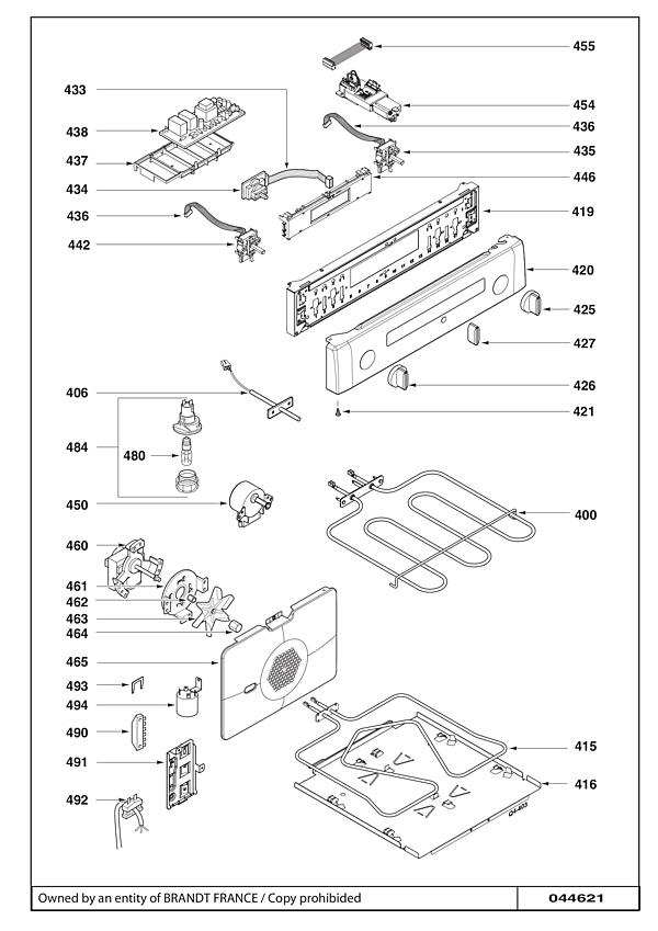 SCI1061X / SCI1061X6 - Vue éclatée 4