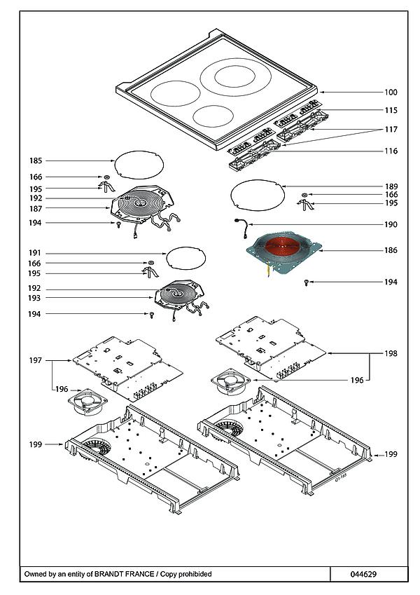 SCI1061X / SCI1061X6 - Vue éclatée 1