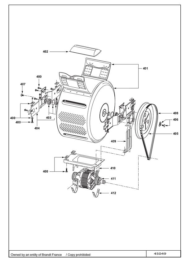 VLT1105W / VLT1105W-F/01 - Vue éclatée 1