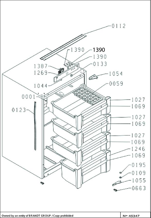 DFS1308J / DFS1308J/3 - Vue éclatée 2