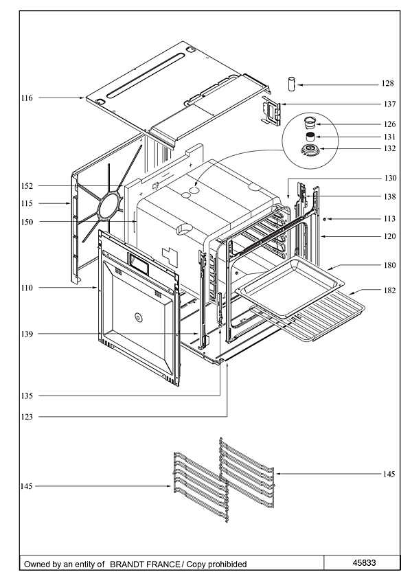 SFP945BT / SFP945BT2 - Vue éclatée 1