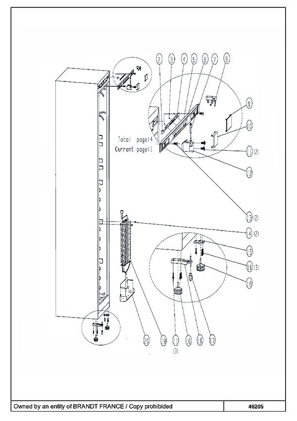 BFU631YNW / BFU631YNW/1 - Vue éclatée 1