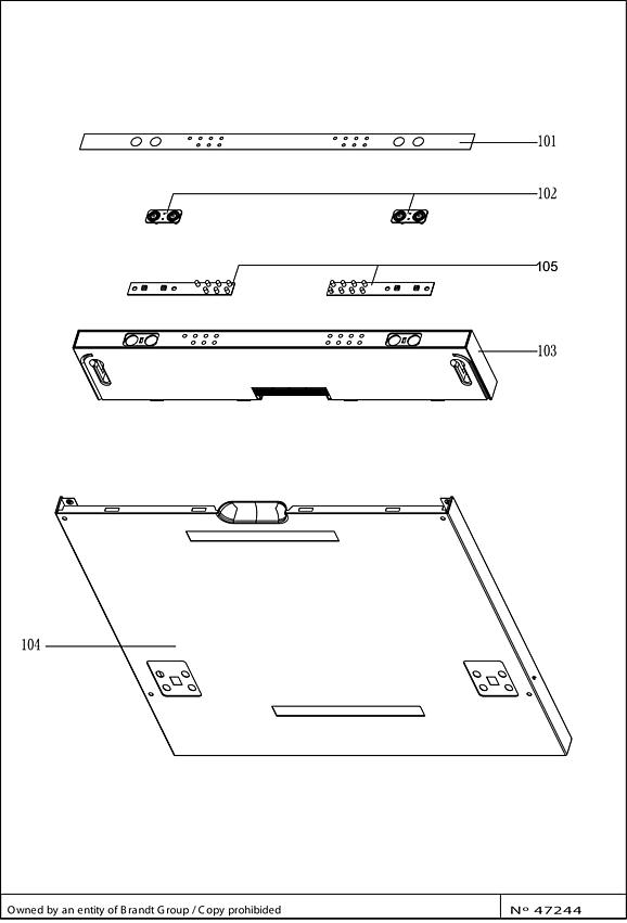 FV1432J / FV1432J/01 - Vue éclatée 6