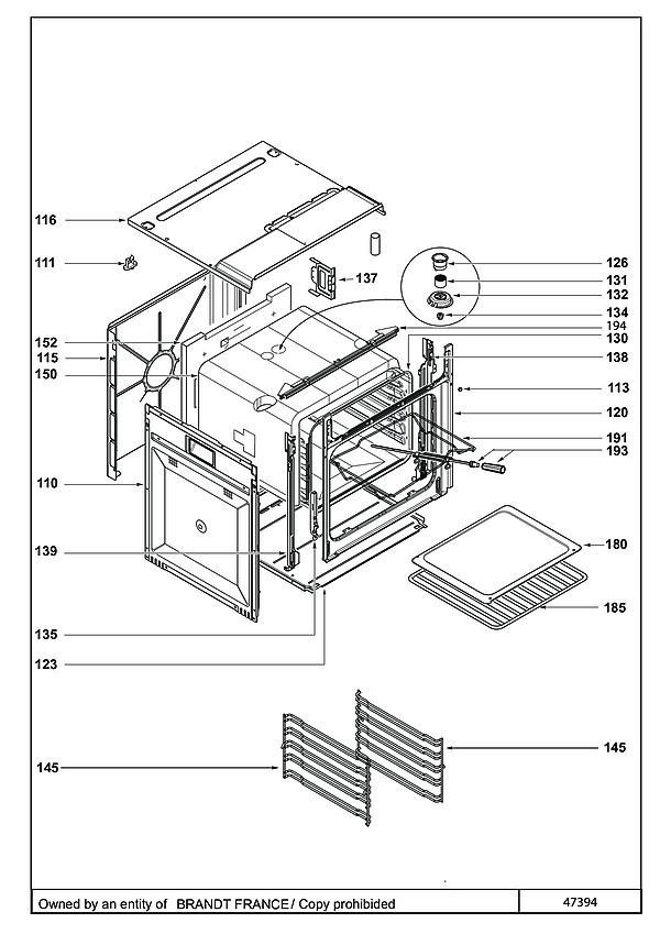 SFP930XL / SFP930XL1 - Vue éclatée 2