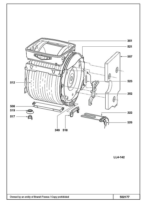 BT1408 / 6R2LBTSGA - Vue éclatée 4