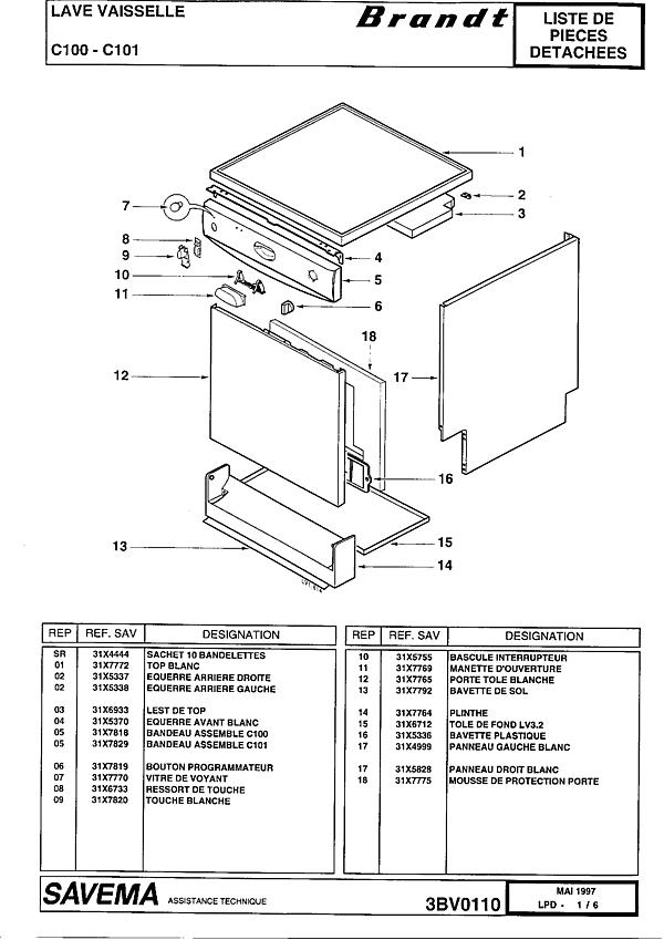C100 / 10Z2BRFFA - Vue éclatée 5