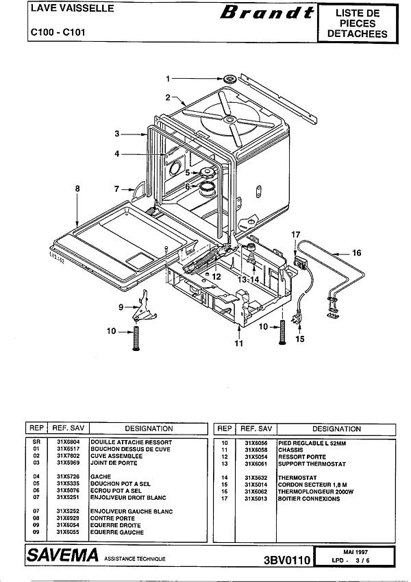 C100 / 10Z2BRFFA - Vue éclatée 6