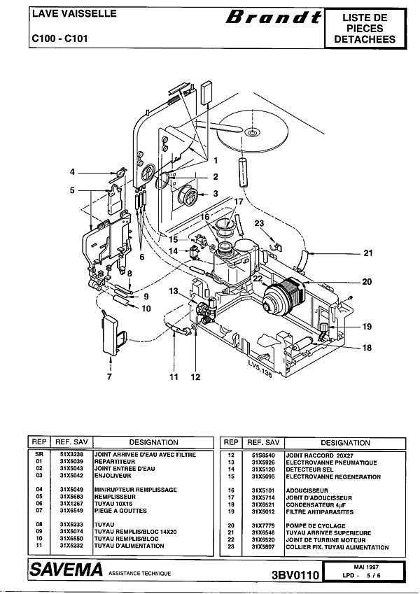 C100 / 10Z2BRFFA - Vue éclatée 3