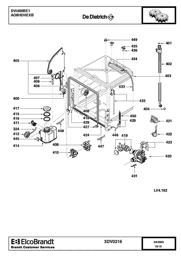 DVI400BE1 / AO8HDHEXB - Vue éclatée 2