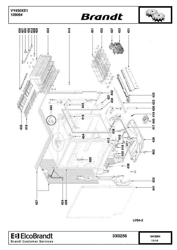 VY450XE1 / 128094 - Vue éclatée 3