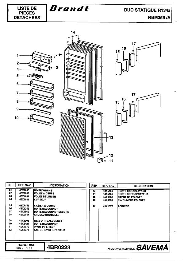 RBM356 / RBM356A - Vue éclatée 2