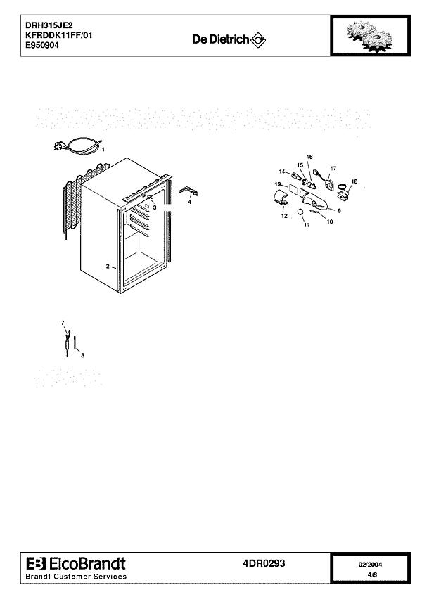 DRH315JE2 / KFRDDK11FF/01 - Vue éclatée 3