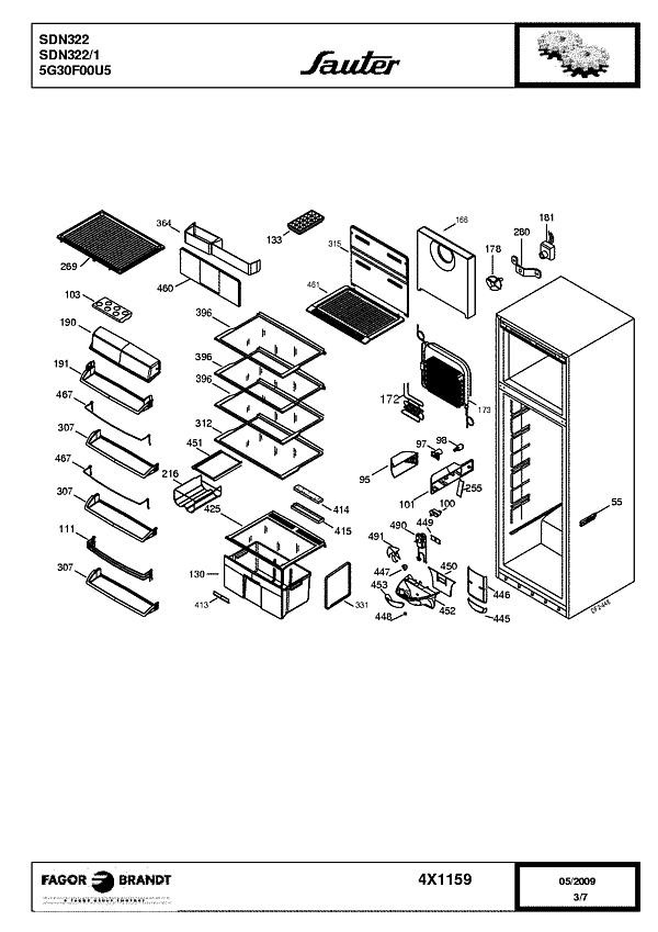 SDN322 / SDN322/1 - Vue éclatée 1