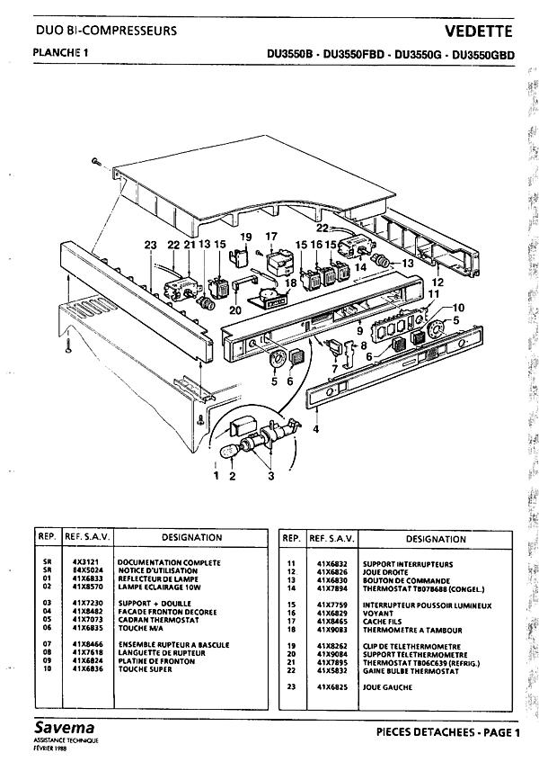 DU3550 / DU3550B - Vue éclatée 3