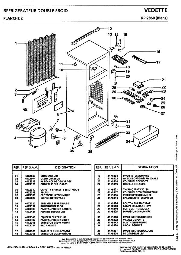 RPI2860 / RPI2860 - Vue éclatée 1