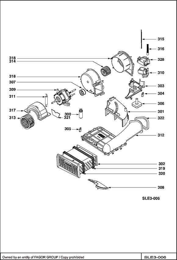 BWD381T / BWD381T/B - Vue éclatée 1