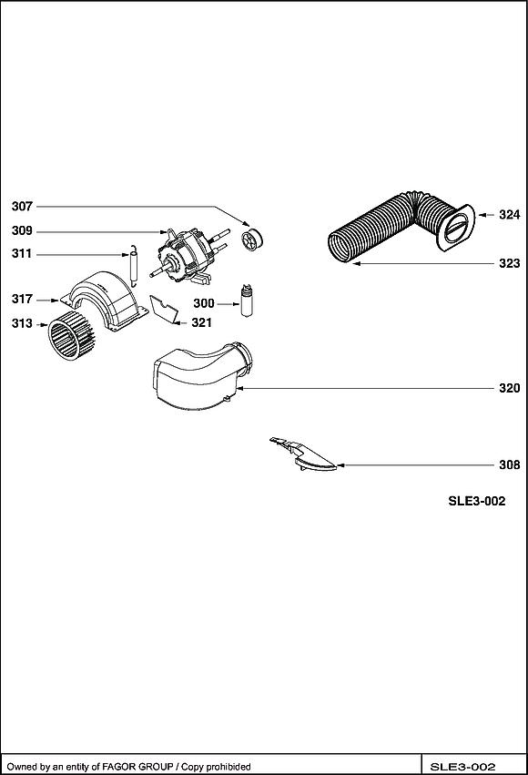 BWD180TC / BWD180TC/B - Vue éclatée 2