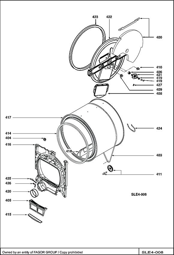 BWD180TC / BWD180TC/B - Vue éclatée 4