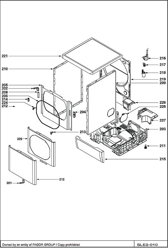 BWD180TC / BWD180TC/B - Vue éclatée 3