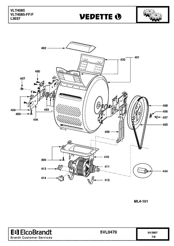 VLT4085 / VLT4085-FF/F - Vue éclatée 4