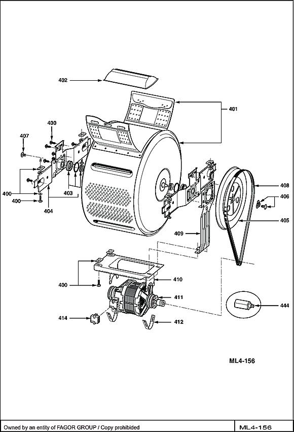 VLT4103W / VLT4103W-F/02-F - Vue éclatée 4