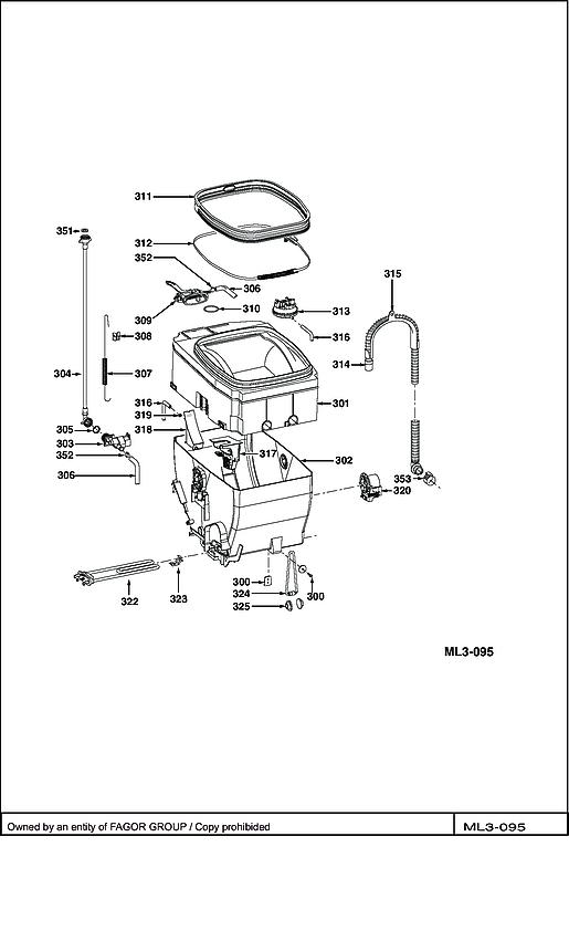 VLT6000S / VLT6000S-F/02 - Vue éclatée 1