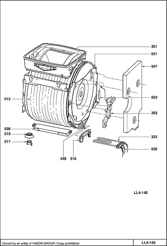 VLT8184 / 6R2KVEFFE - Vue éclatée 1