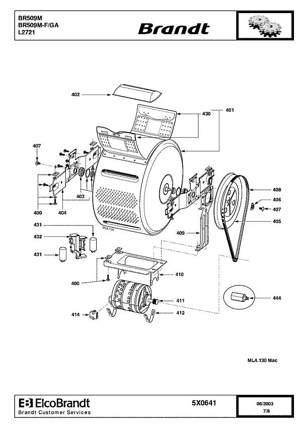 BR509M / BR509M-F/GA - Vue éclatée 4
