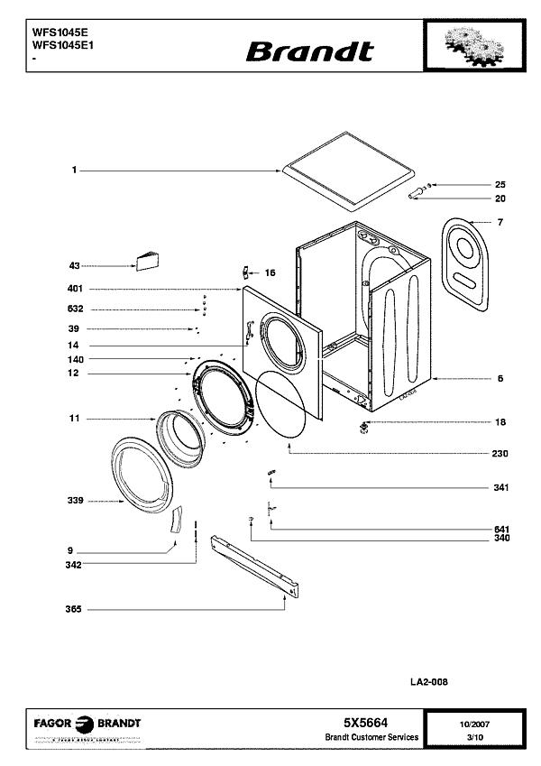 WFS1045E / WFS1045E1 - Vue éclatée 5