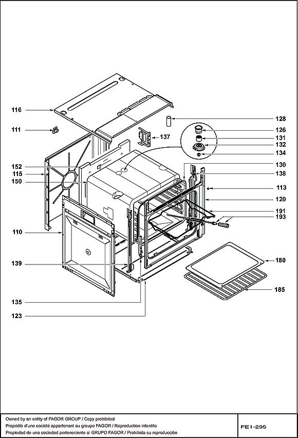 FP1043W / FP1043W1 - Vue éclatée 2