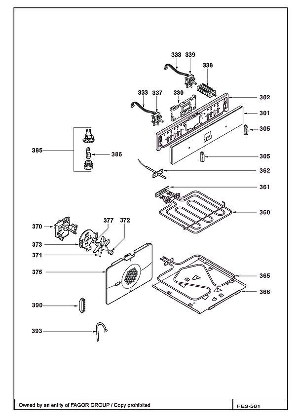 FC1040W / FC1040W1 - Vue éclatée 1