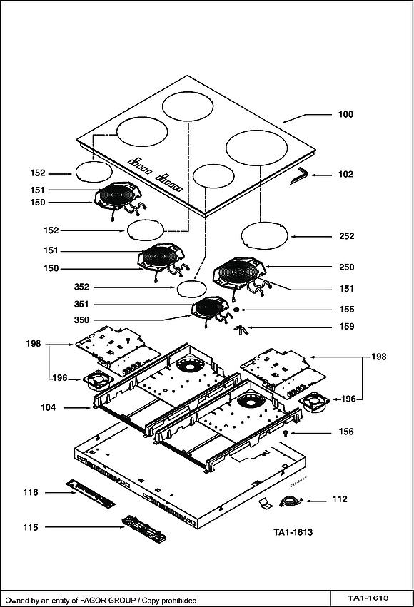 TI1150B / TI1150B1 - Vue éclatée 1