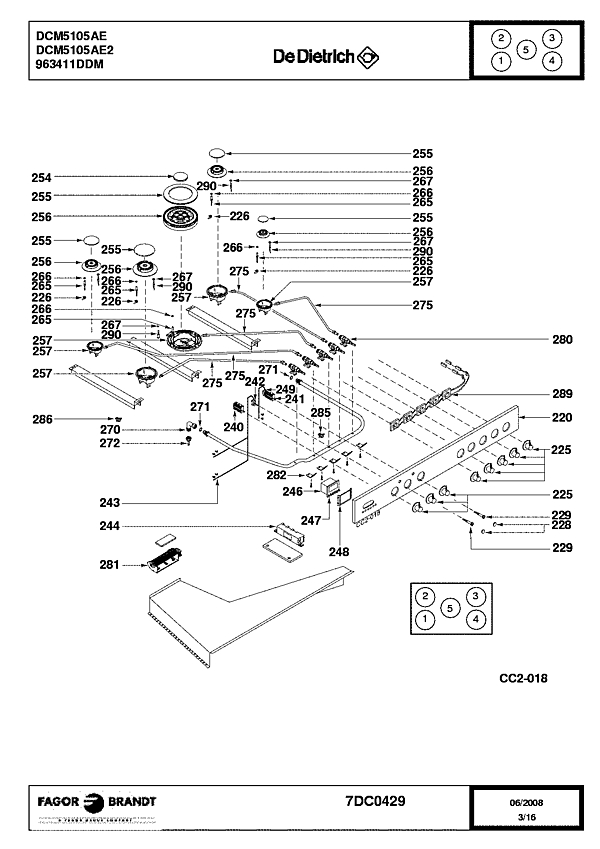 DCM5105AE / DCM5105AE2 - Vue éclatée 5