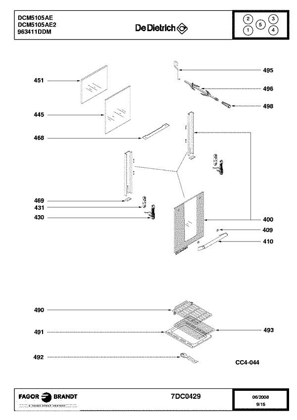 DCM5105AE / DCM5105AE2 - Vue éclatée 3