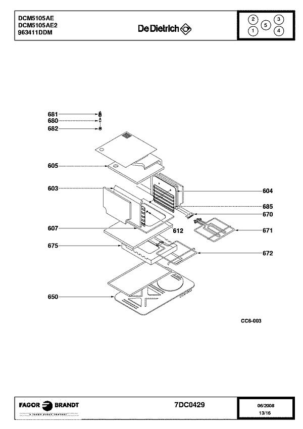 DCM5105AE / DCM5105AE2 - Vue éclatée 1