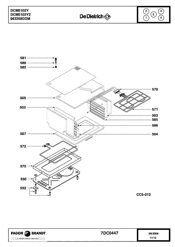 DCM5102Y / DCM5102Y2 - Vue éclatée 3