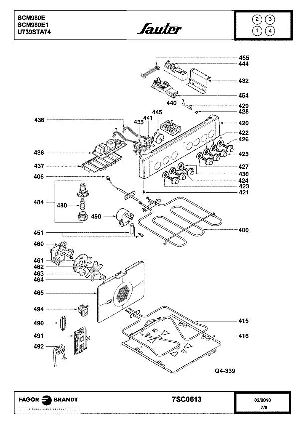 SCM980E / SCM980E1 - Vue éclatée 1