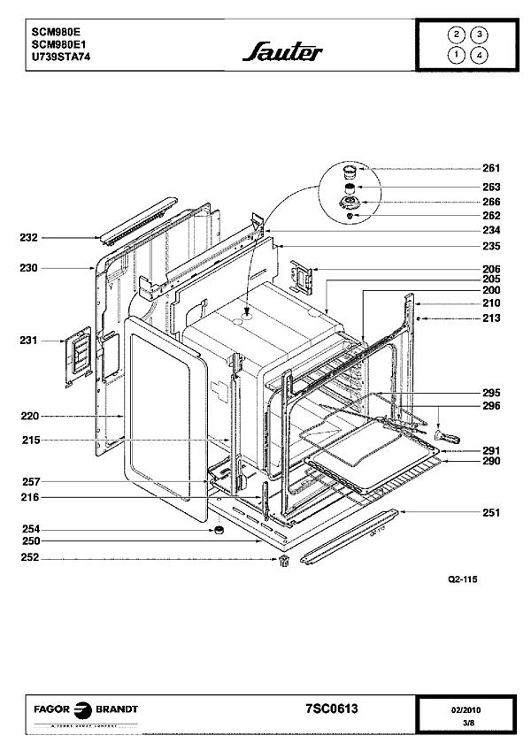 SCM980E / SCM980E1 - Vue éclatée 3