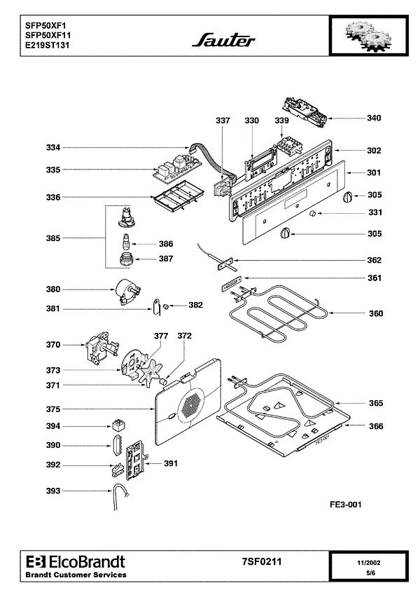 SFP50XF1 / SFP50XF11 - Vue éclatée 1