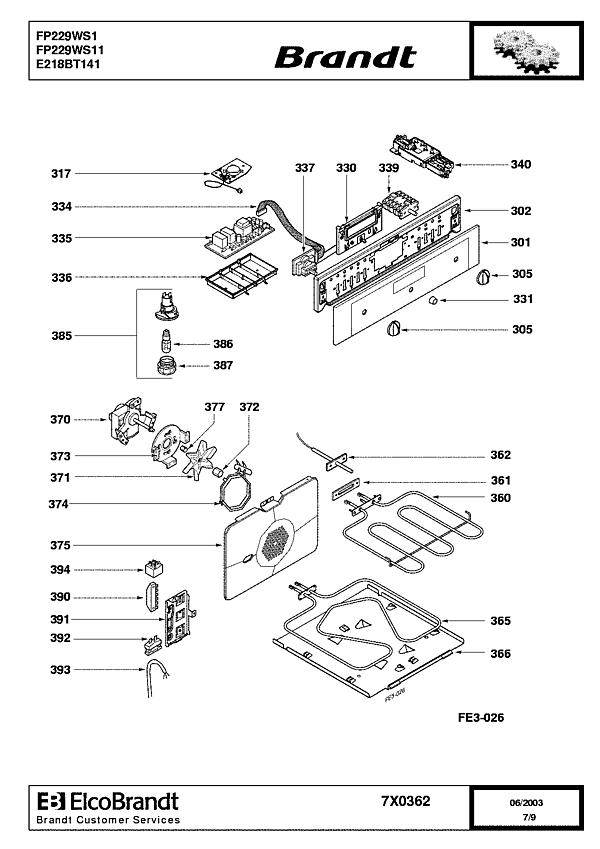 FP229WS1 / FP229WS11 - Vue éclatée 3