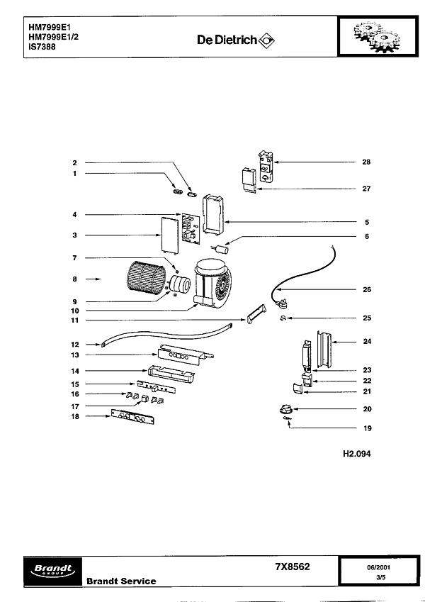 IS7388 / HM7999E1/2 - Vue éclatée 1