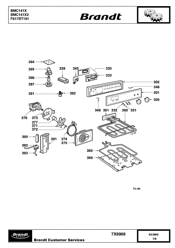 BMC141X / BMC141X2 - Vue éclatée 2